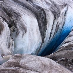 Crevasse dans le glacier de Svea