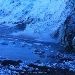 Sur le front du glacier