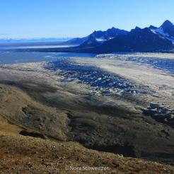 Vue sur le glacier de Seva