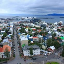 Reykjavik vue depuis l'église Hallgrímskirkja