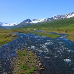 Sur la route entre Egilsstaðir et Seyðisfjörður