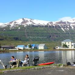 La petite ville de Seyðisfjörður
