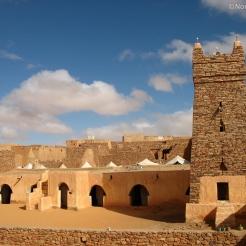 La mosquée de Chinguetti, ancienne cité caravanière de l'Adrar mauritanien