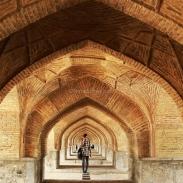 Sous le pont Khaju à Ispahan