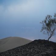 Dans le désert entre Ispahan et Yazd
