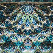 Détail dans la grande mosquée de Yazd
