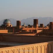 Vue sur les toits de Yazd, la perle du désert