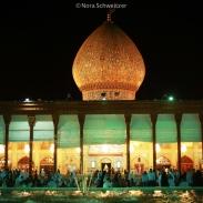 L'impressionnant mausolée Shah Cheragh à Shiraz