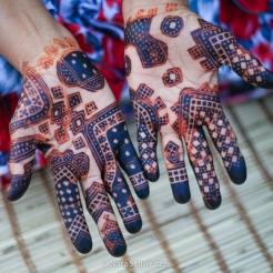 Tatouage au henné mauritanien