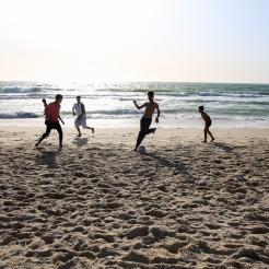 Foot sur la plage de Nouakchott