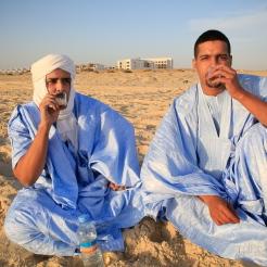 Jeunes Mauritaniens sur la plage de Nouakchott