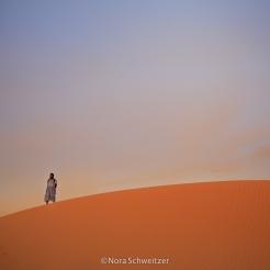 Coucher de soleil sur une dune à Tanouchert