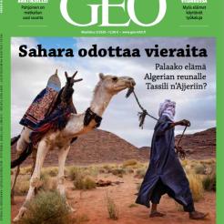 La Une du GEO Finlande spécial Sahara