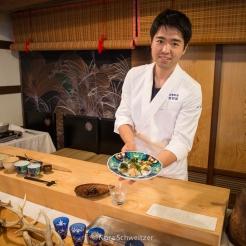 Cuisine à base de légumes sauvages, Yamagata, Japon © Nora Schweitzer